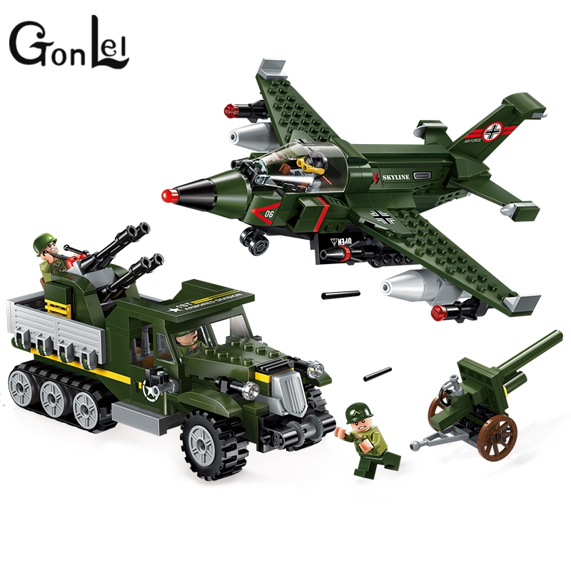 GonLeI 1710 City SWAT Series Military Fighter Policeman building bricks Compatible Lepin city toys for children compatible lepin city block police dog unit 60045 building bricks bela 10419 policeman toys for children 011