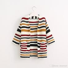 New Fashion Kids Girls Candy Knitted Cardigans Sweater Jackets Fall Winter Fashion Children Coats 5PCS/LOT Wholesale