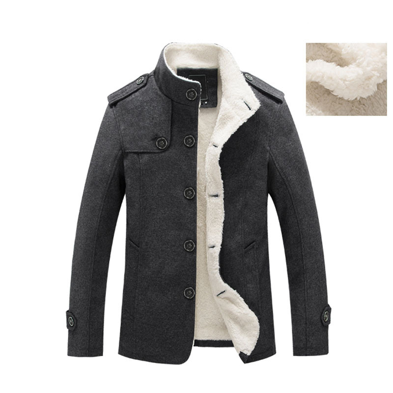 Image 3 - Mountainskin Winter Men's Coat Fleece Lined Thick Warm Woolen Coats Autumn Overcoat Male Wool Blend Jackets Brand Clothing SA607-in Wool & Blends from Men's Clothing