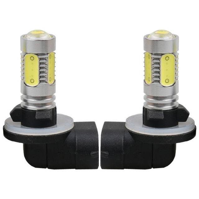 1Pcs Car LED 881 H27 7.5W High Power Auto Car Driving Fog Lights 12V White LED Lamp Bulb with Lens DRL accessories zk30