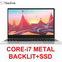 15.6 Inch Intel i7 Laptop 8GB/16GB RAM 512GB 1TB HDD Metal Body 1080P Windows 10 layout Keyboard Dual Band WiFi Gaming Laptop