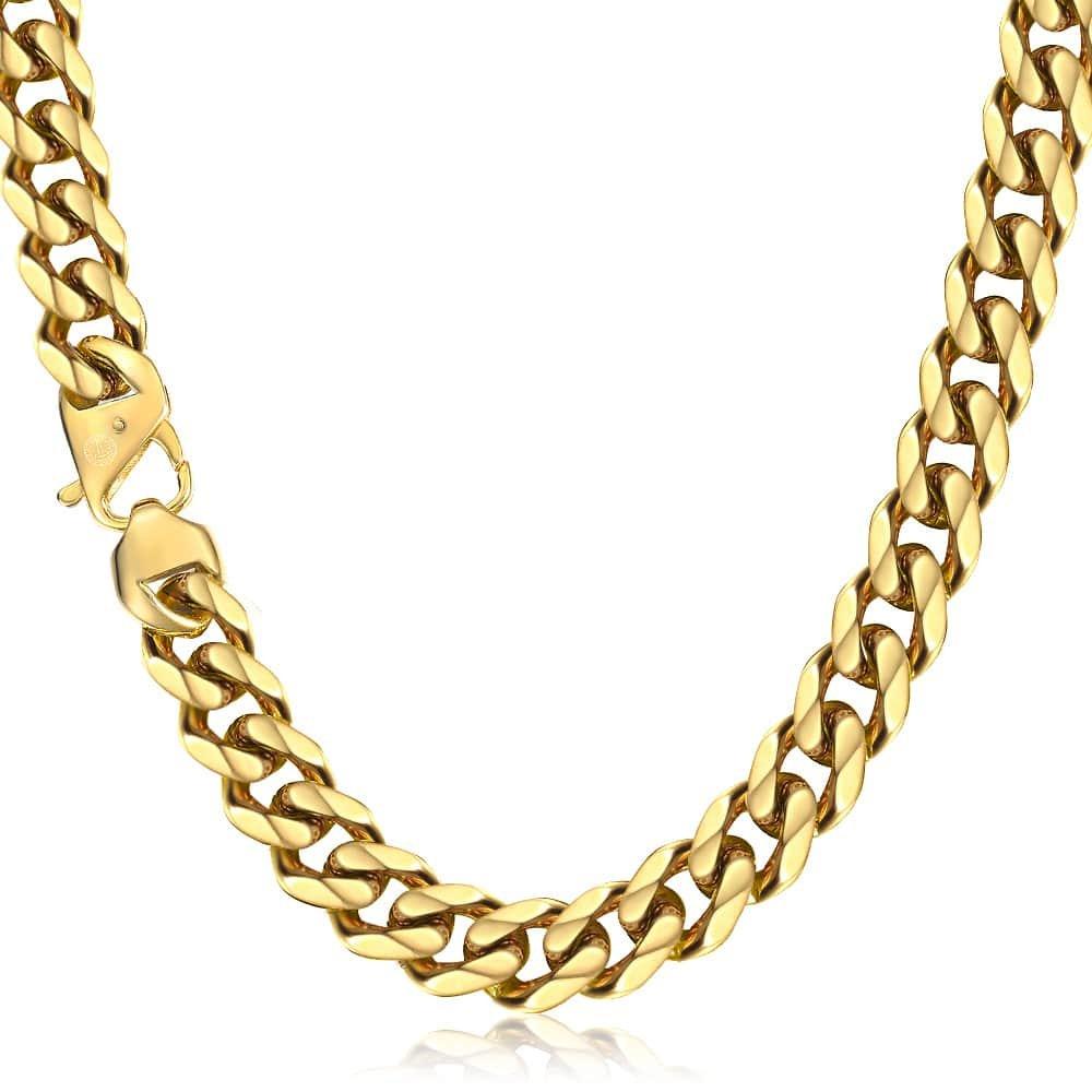 Stainless Steel Men's Golden Chain