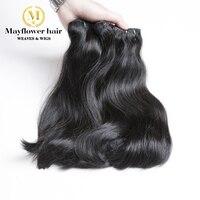 3 Bundles Top Quality Double Drawn Bone Straight Vietnamese Virgin Hair Natural Black