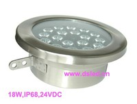 IP68 High Power Outdoor 18W LED Spotlight 24VDC DS 10 63 18W Stainless Steel Good Quality
