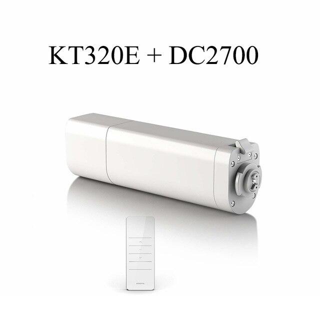 Original Ewelink Dooya Sunflower 220V 50mhz Electric Curtain Motors KT320E 45W with remote DC2700 Intelligent Mobile Control