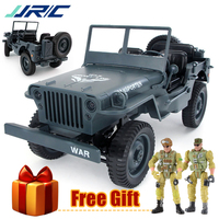 JJRC Q65 RC Truck 1:10 2.4G 4WD Convertible Military Off Road 4 Wheel Drive Climbing Car 15Km/h Remote Control Toys for Boy Gift