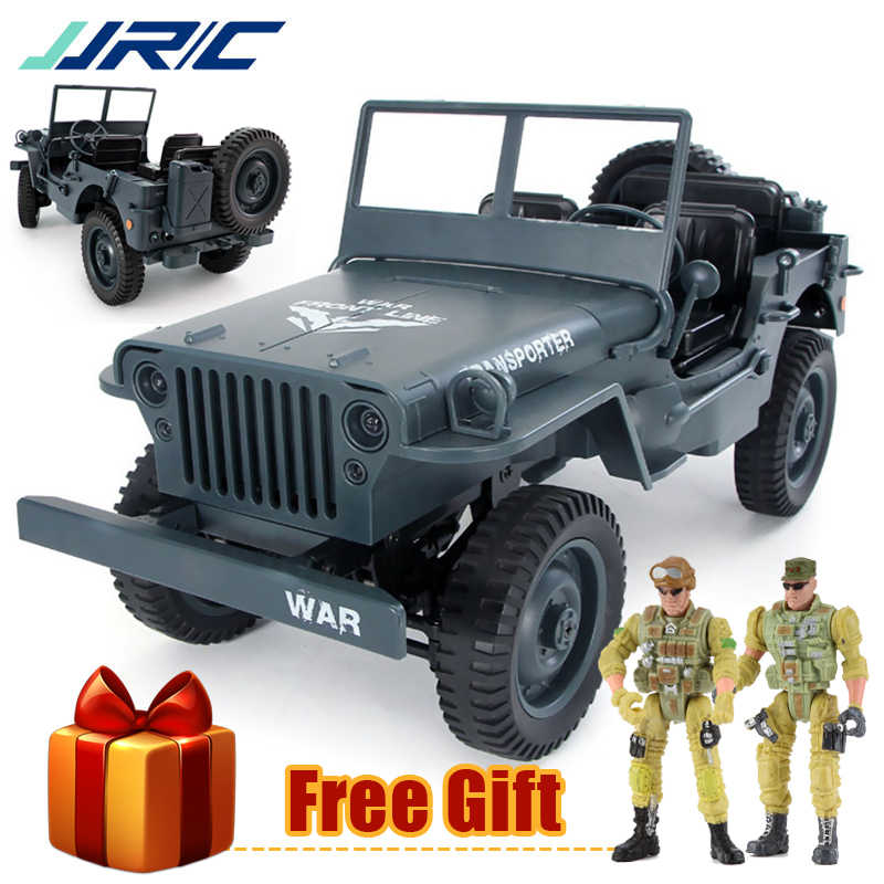 JJRC Q65 RC kamyon 1:10 2.4G 4WD cabrio askeri Off-Road 4 tekerlekli sürücü tırmanma araba 15 km/saat uzaktan kumanda oyuncaklar çocuk hediye için