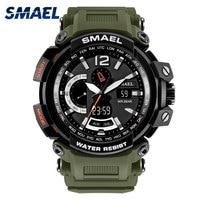 SMAEL Brand Hiking Men Watches Clock Man Military Army Sports LED Digital Outdoor Swim Wrist Watch