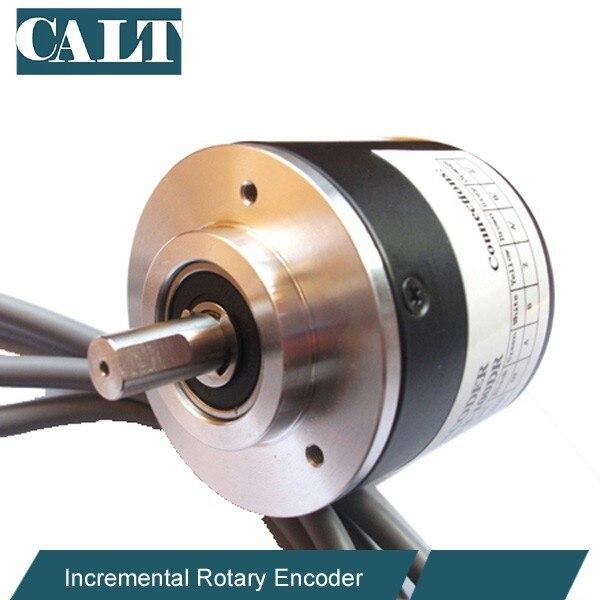 8mm shaft Incremental optical encoder sensor 2500ppr line driver output calt high resolution 3600 pulse incremental encoder ghs38 series optical rotary encoder line driver output
