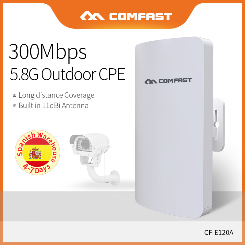Long Distance Outdoor CPE 5.8Ghz 300Mbps Access Point POE Wireless AP Router Repeater Extender AP Bridge For IP Camera CF-E120A