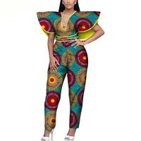 2019 new elegent fashion style summer african women cotton plus size long jumpsuit XS 6XL