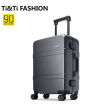 Original xiaomi jugend koffer 90 punkte 20 zoll aluminium rahmen gepäck männlich weiblich trolley schloss universalräder