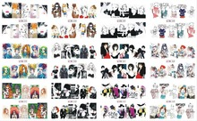 12 Sheets/Lot Sexy Women Design Nail Stickers Water Transfer Decals Art Tips Decoration Stickers For Nails Decals (5*6cm) недорого