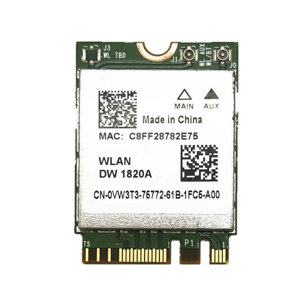 BCM94350ZAE DW1820A 8PKF4 802.11AC 867Mbps NGFF Bluetooth 4.1 Wireless Card For Broadcom BCM94350Z Dell DW1820A WLAN CARD