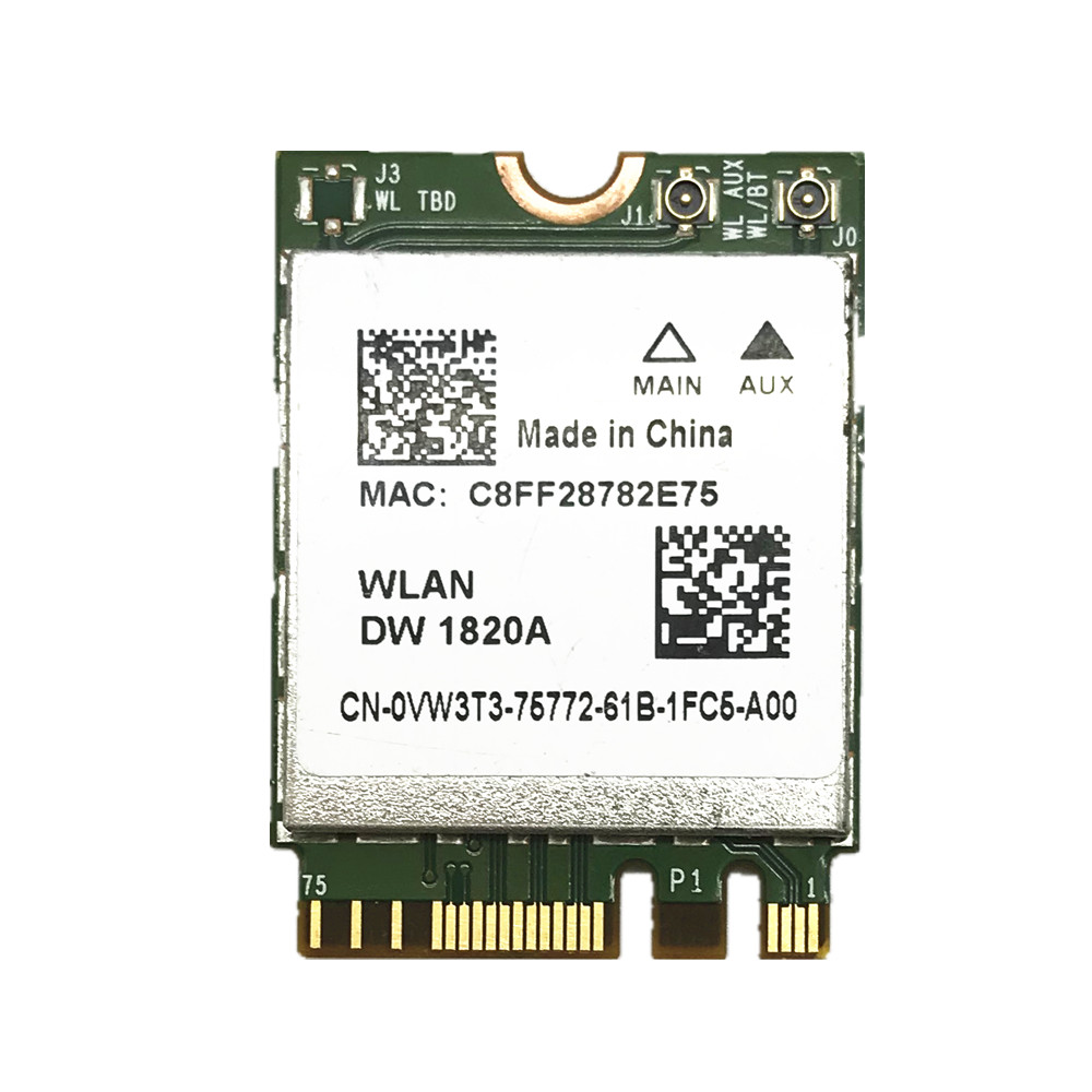 For Broadcom BCM94350ZAE DW1820A 802.11AC 867Mbps NGFF Bluetooth 4.1 Wireless Card Less Than DW1560