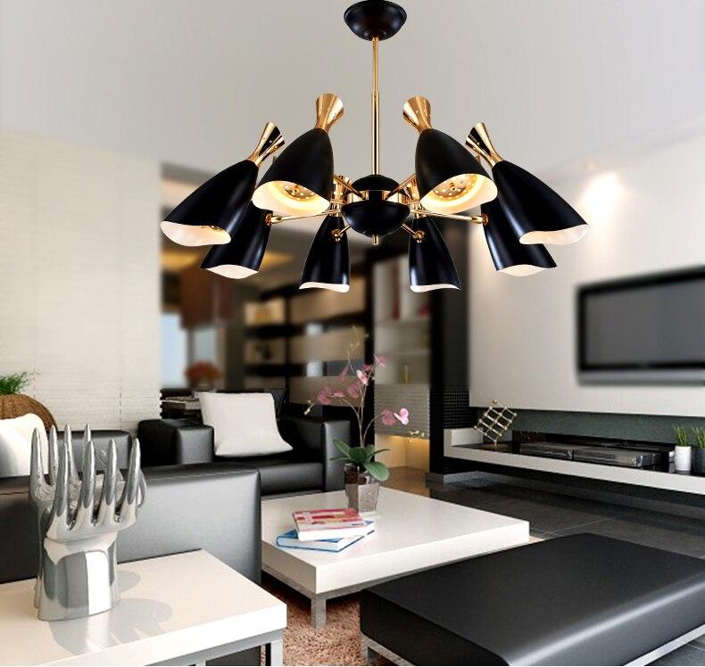 US $229.14 33% OFF|Nordic postmodernen ideen wohnzimmer esszimmer  schlafzimmer studie kronleuchter industrie, die die villa verbindung boden  lampen-in ...