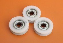 With V groove plastic bags embedded pulley bearing 625 zz size 5 * 21 9 mmV type grooves