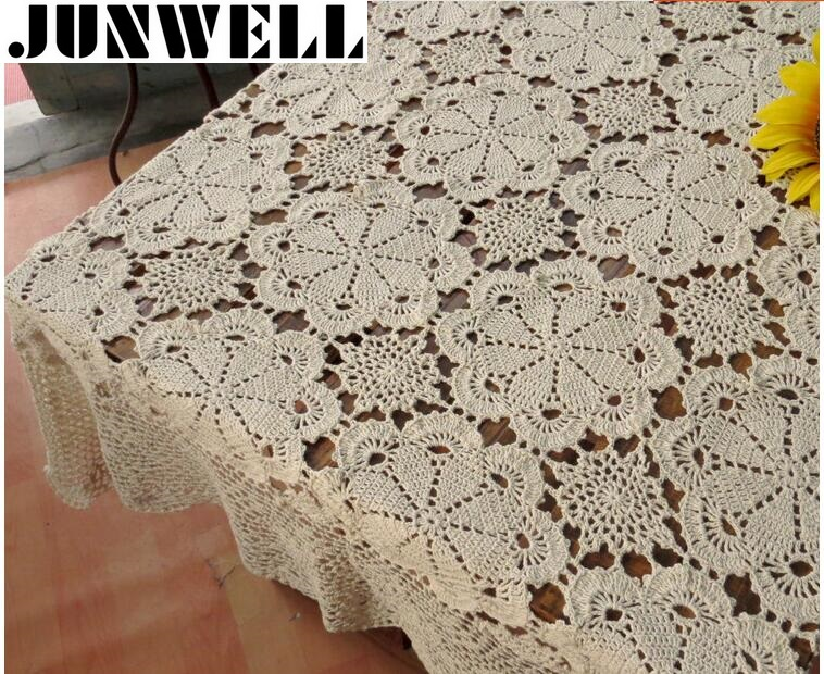 100 cotton handcraft crochet tablecloths shabby chic 5 - Manteles shabby chic ...
