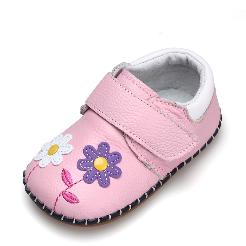 XQT.GZ Spring Autumn Baby Shoes Baby Girl Shoes Infantil Cute Cartoon Leather Shoes Flower Shoes Boys Girls First Walkers пуловер с круглым вырезом из хлопка и льна