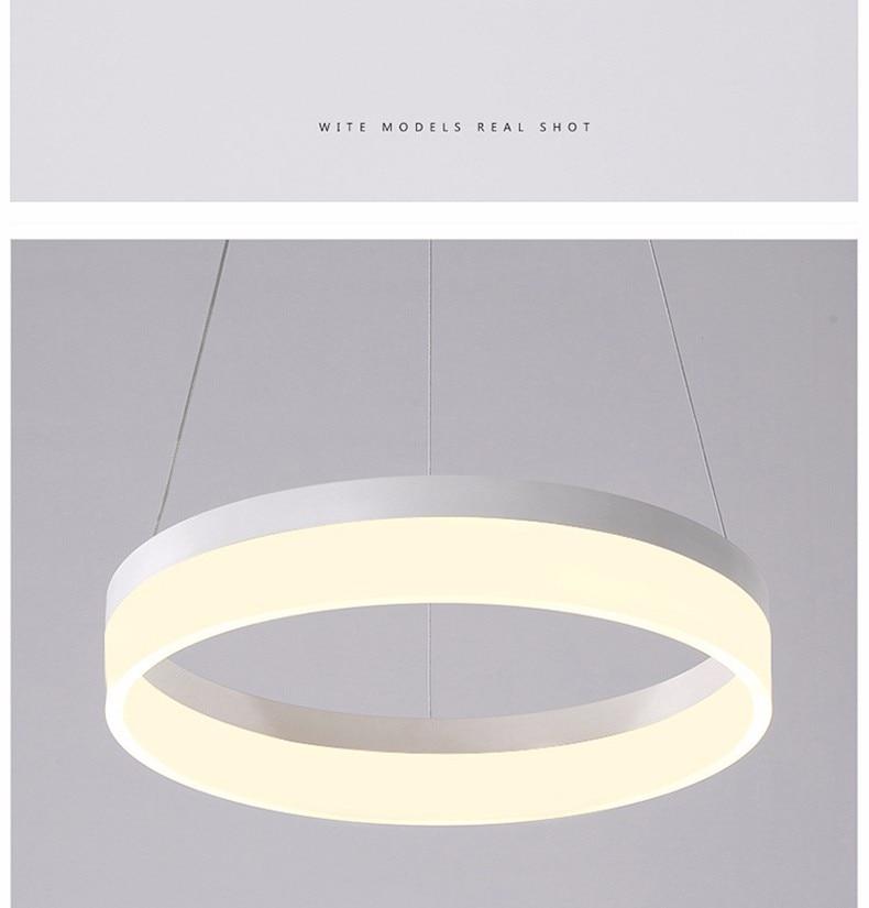 Luminária pendente de led, moderna, para sala