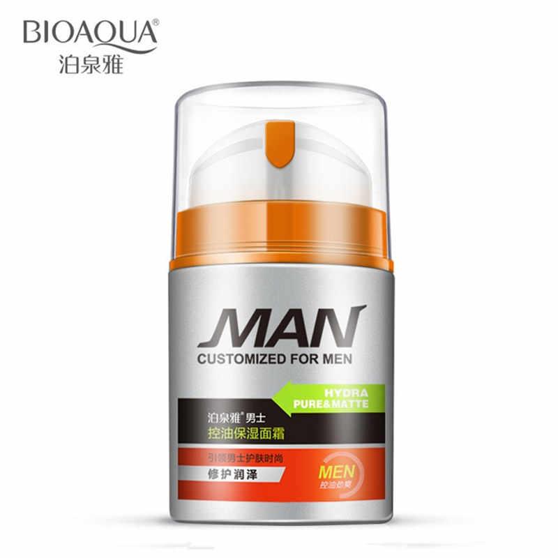 BIOAQUA מותג גברים עור טיפול שמן בקרת לחות לחות קרם אקנה טיפול אנטי-הזדקנות נגד קמטים קרם פנים