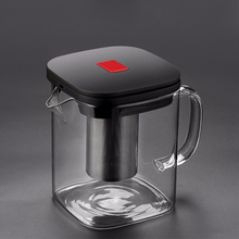 2 サイズ正方形ガラスティーポット良いクリア Borosilicat と 304 ステンレス鋼注入器ストレーナー熱茶コーヒーポットセットやかんツール
