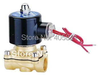 16mm Pore 1/2 Two Way Magnetic Solenoid Water Valve 2W-160-15,-5~100 degree,full brass