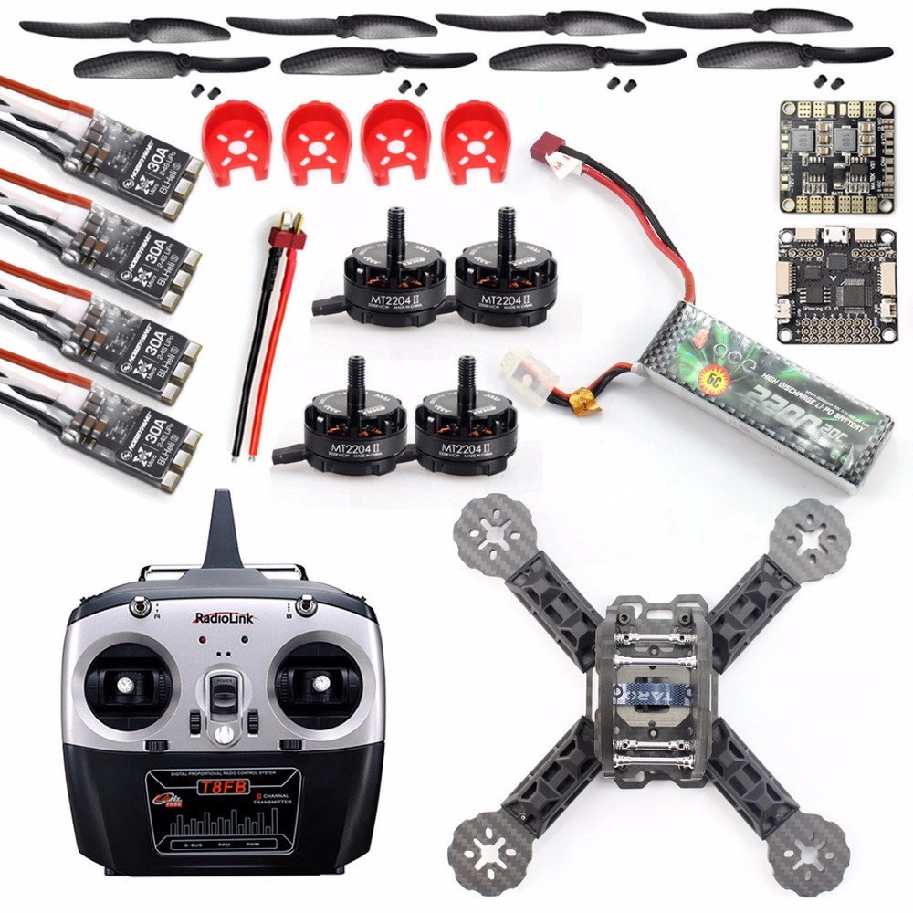DIY Toys RC FPV Drone Mini Racer Quadcopter Kit 190mm SP Racing F3 Deluxe Flight Controller 2200mah Battery radiolink T8FB TX RX jmt diy racer 250 fpv rtf drone with sp racing f3 flight controller ccd camera radiolink at9s tx