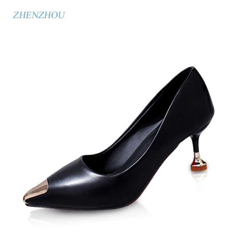zhen zhou 2017 spring and autumn women shoes Han edition Pointed heels The shallow mouth Fine with The bride wedding shoe 2016 new pumps spring autumn period and the new fine work with shallow mouth single shoe heels sweet bowknot sexy pointed shoes