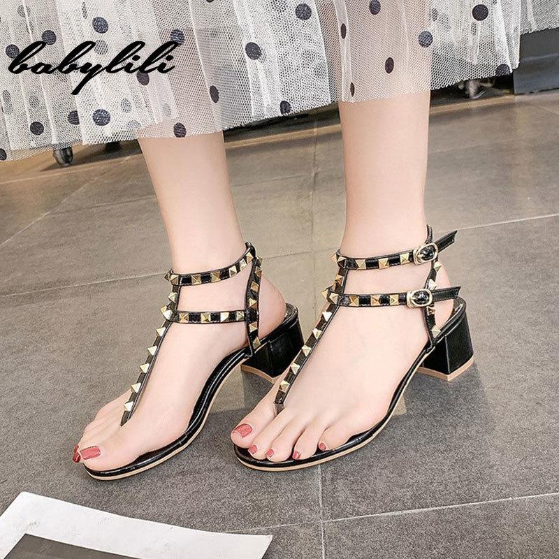Woman Sandals 2019 Summer Heels Yellow