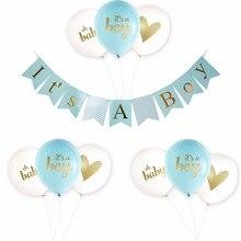 Babyshower украшения комплект это мальчик и это девушка баннер латексные шары с oh baby и сердце