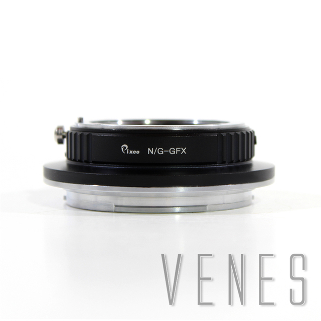 VENES Adapter ring for N/G- GFX Camera, For Nikon G Mount lens to GFX lens adapter, For Fujifilm GFX 50S camera