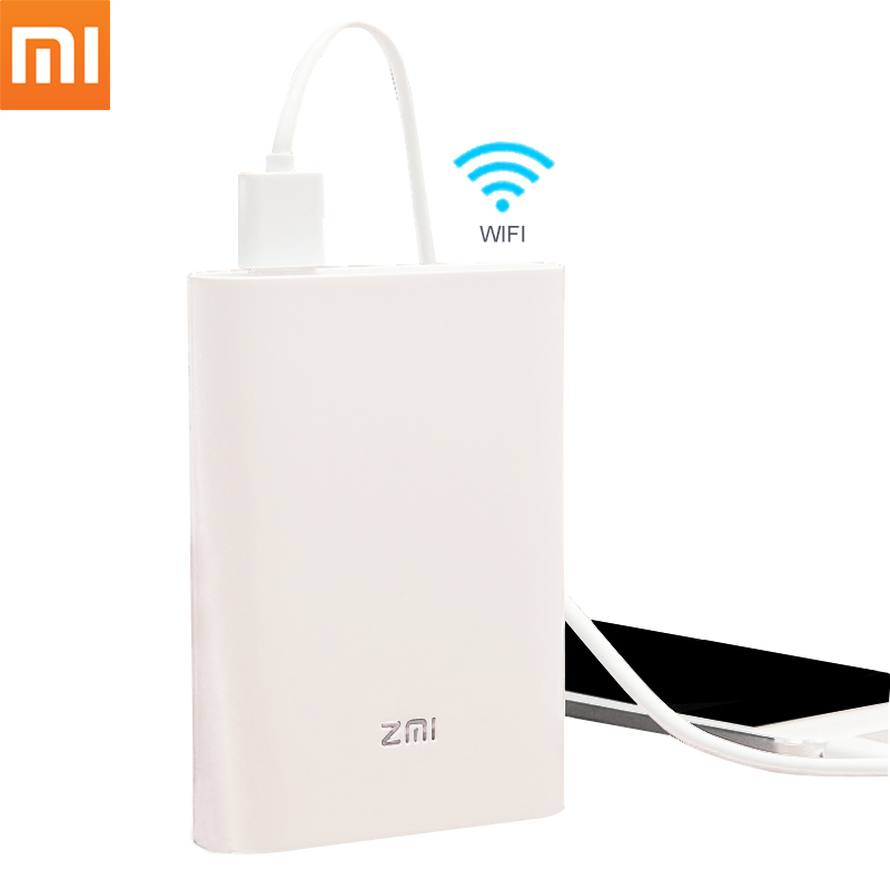 Original Xiaomi Zmi MF855 7800mAh 3G 4G Wireless Router Portable Mobile Unicom Telecom 4G LTE Wifi Router With Mobile Power Bank