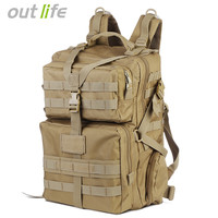 Outlife 45L Military Tactical Backpack Army Molle Bag Assault Backpack Trekking Rucksack for Outdoor Hiking Camping Hunting