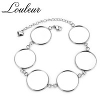 5pcs/lot Fit 12/14/16/18/20mm Stainless Steel Multiple Round Blank Bracelets Findings Tray Bezel Setting Cabochon Cameo Base high quality 12mm 14mm 16mm 18mm 20mm 316 stainless steel bangle base bracelet blank findings tray bezel setting cabochon cameo
