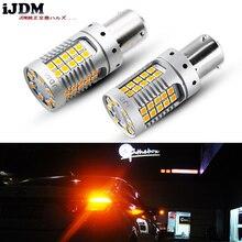 IJDM Chip LED amarillo ámbar BAU15S, sin hiperflash, 1156 PY21W P21W, luz de intermitente trasero delantera para VW Golf4 Jetta