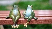 ceramic creative green frog toad lucky statue home decor crafts room decoration porcelain animal figurine ornament handicraft