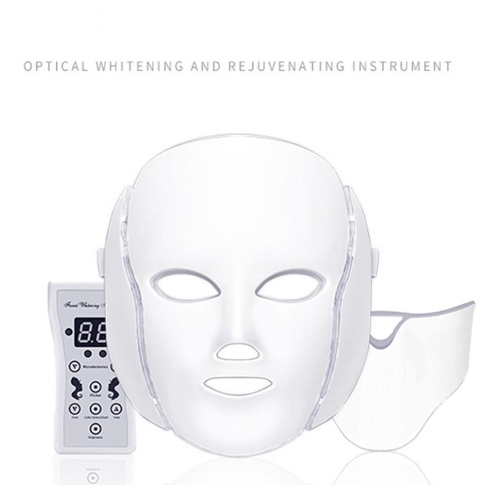 7 Colors LED Facial Mask Spectrometer Led Therapy Mask Light Therapy Acne Neck Face Mask Korean Skin Care OPP Bag Pack