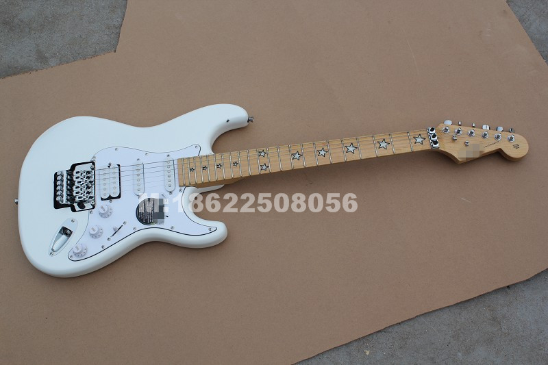 In Stock ST White Ri Chie Sam Bora Electric Guitar, Custom Shop Accepted OEM Guitarra
