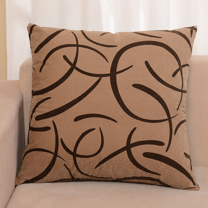 Cuscini Marroni Per Divano.2015 New Brown Gray Modern Plaid Car Cushion Covers For Sofa