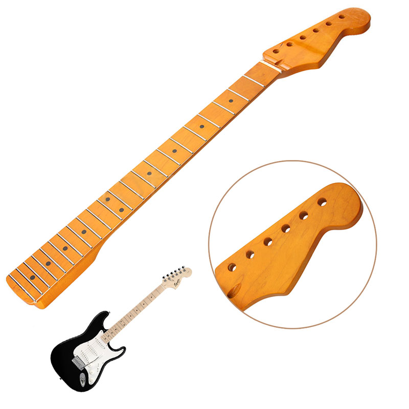 Electric Guitar Neck 22 Fret Maple Wood For ST Parts Replacement Smooth Surface M08 two way regulating lever acoustic classical electric guitar neck truss rod adjustment core guitar parts