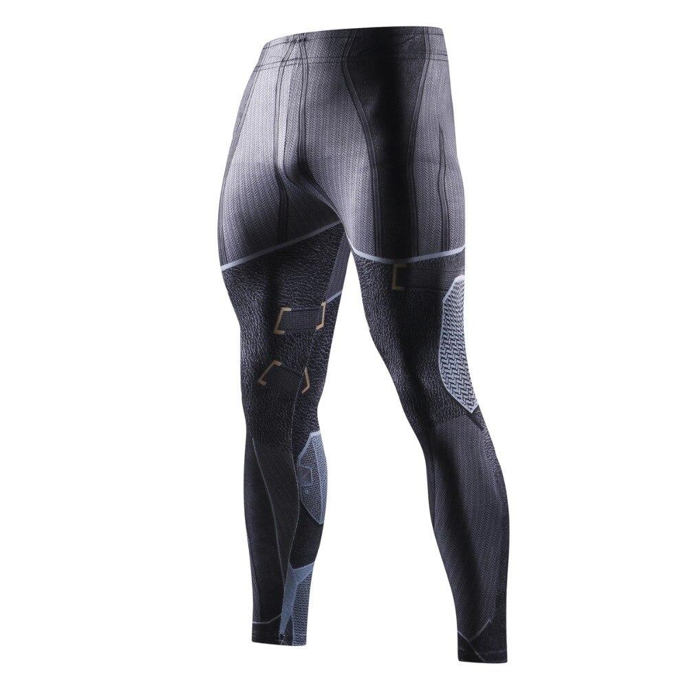 Skinny Anime 3D Print Men Pants Casual Batman Men Bodybuilding Fitness Crossfit Trousers Soft Leggings Men MMA Compression Pants