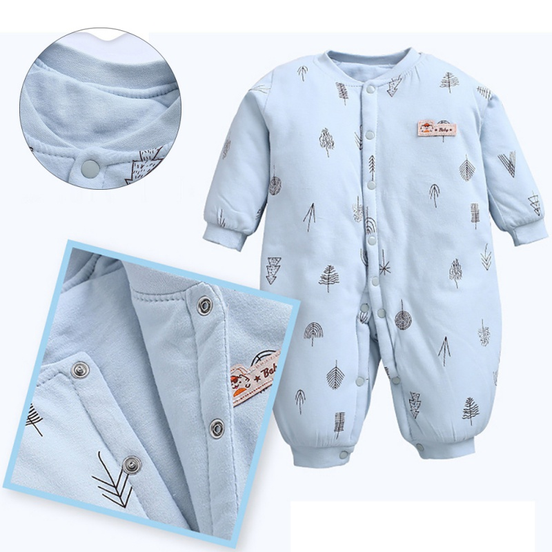 Winter Baby Boy Girl   Romper   Newborn Sleepsuit Thick Baby   Rompers   Infant Baby Clothes Long Sleeve Newborn Jumpsuits Baby Pajamas