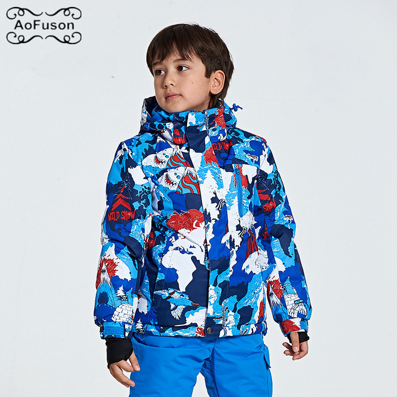 Veste de Ski de Snowboard pour enfants chaud respirant imperméable hiver Ski de neige garçon filles manteaux randonnée vêtements de Ski pour enfants vestes