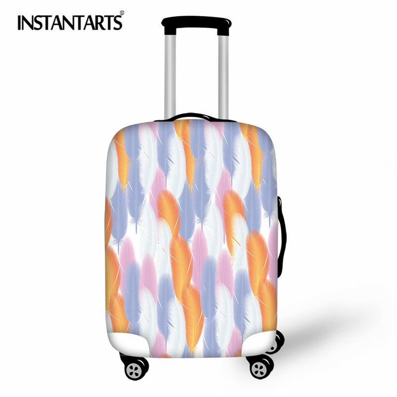 INSTANTARTS Luggage Cover Feather Travel Accessories Thicken Luggage Cover Trunk Case Baggage Covers Suitcase Protective 18 30