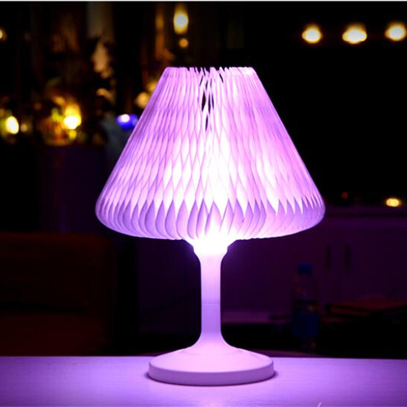 Creative colorful rechargeable led folding table lamps natural light creative colorful rechargeable led folding table lamps natural light desk lamps paper changeable holiday decoration night light in table lamps from lights aloadofball Images