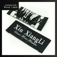 High Quality Custom Clothing Labels Brand Woven Labels Personalized Grade Woven Fabric Labels Embroidered Logo Free