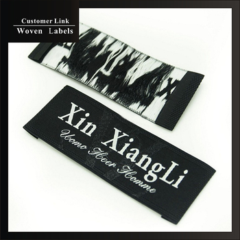 high quality custom clothing labels brand woven labels personalized grade woven fabric labels embroidered logo free design