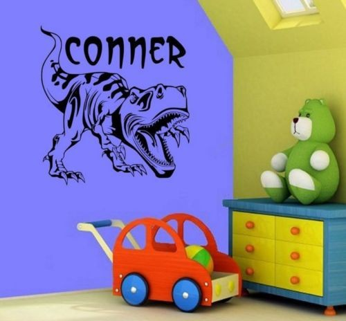 Customer made personalized t rex dinosaur wall decal home for Poster mural zen deco