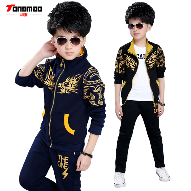 409af55a1fb8 Spring and Autumn 2016 New Children s Clothing Boy Leisure Suits Big ...